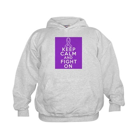 Leiomyosarcoma Keep Calm Fight On Kids Hoodie