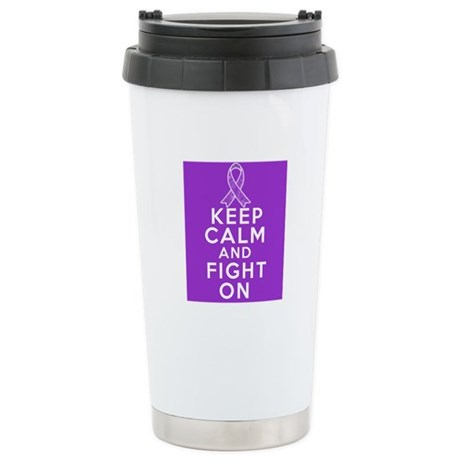 Leiomyosarcoma Keep Calm Fight On Ceramic Travel M