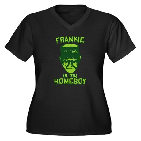 Frankie Is My Homeboy Womens Plus Size V-Neck Dar
