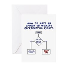 Pro Choice Chart Greeting Cards (Pk of 20)