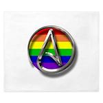 LGBT Atheist Symbol King Duvet