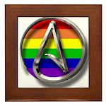 LGBT Atheist Symbol Framed Tile