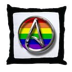 LGBT Atheist Symbol Throw Pillow