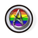 LGBT Atheist Symbol Wall Clock