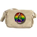 LGBT Atheist Symbol Messenger Bag