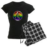 LGBT Atheist Symbol Women's Dark Pajamas