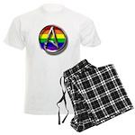 LGBT Atheist Symbol Men's Light Pajamas