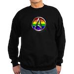 LGBT Atheist Symbol Sweatshirt (dark)