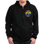 LGBT Atheist Symbol Zip Hoodie (dark)