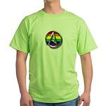 LGBT Atheist Symbol Green T-Shirt