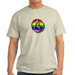 LGBT Atheist Symbol Light T-Shirt