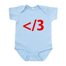 Heartbreak Emoticon Infant Bodysuit