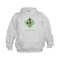 Golf Lady with Custom Text. Hoodie
