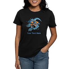 Ice Hockey. Custom Blue Text. Tee