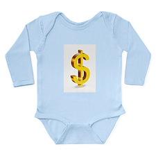 Dollars Long Sleeve Infant Bodysuit