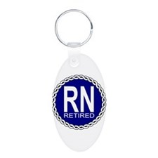 Royal Navy Retired Aluminum Oval Keychain