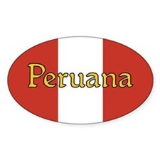 Peruana Pride - Oval Decal