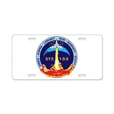 STS-133 Aluminum License Plate