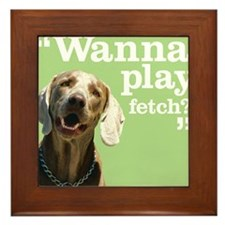 Fetch Dog Framed Tile