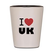 I Love UK Shot Glass