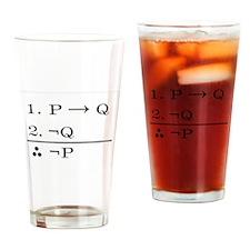 Modus Tollens Drinking Glass