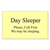 Day Sleeper Decal