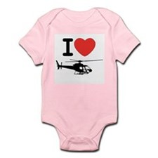 I Heart Helicopter Infant Bodysuit