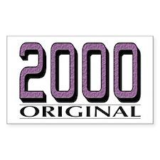 2000 Original Rectangle Stickers