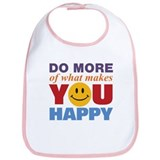 Do More Happy Bib