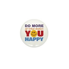 Do More Happy Mini Button (100 pack)