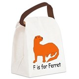 Ferret10.png Canvas Lunch Bag