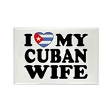 I Love My Cuban Wife Rectangle Magnet