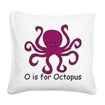 Octopus10.png Square Canvas Pillow