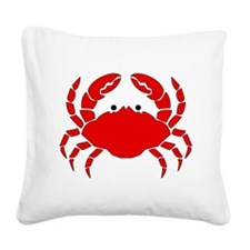 Crab Square Canvas Pillow
