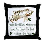 'Where Shamrocks Grow' Throw Pillow