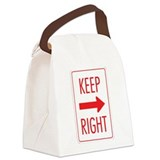 Keep Right 10 Canvas Lunch Bag