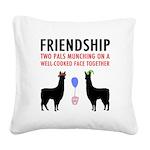 Friendship Square Canvas Pillow