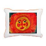 Sun Face Rectangular Canvas Pillow