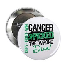 "Wrong Diva Liver Cancer 2.25"" Button (10 pack)"