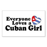 Everyone Loves a Cuban Girl Rectangle Decal