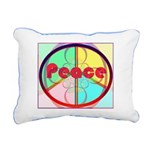 Abstract Peace Sign Rectangular Canvas Pillow