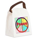 Abstract Peace Sign Canvas Lunch Bag