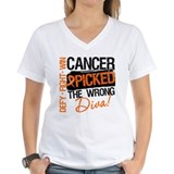 Wrong Diva Leukemia Cancer Shirt