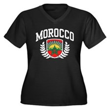 Morocco Women's Plus Size V-Neck Dark T-Shirt