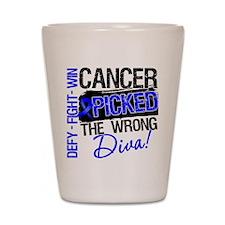 Colon Cancer Wrong Diva Shot Glass