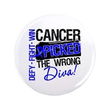 "Colon Cancer Wrong Diva 3.5"" Button"