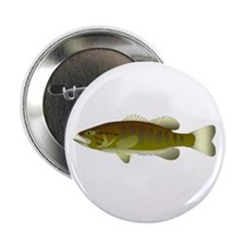 "Smallmouth Bass 2.25"" Button (100 pack)"