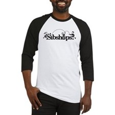 Sibshop logo in Black Baseball Jersey