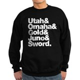 Normandy beaches reverse Sweatshirt