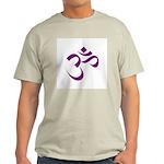 The Purple Aum/Om Ash Grey T-Shirt